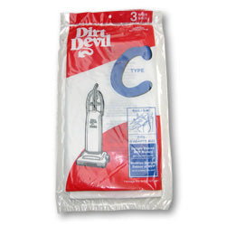 Dirt Devil Type C Paper Bags, Royal Hard Body Dirt Devil 3 Pk Part 3700147001