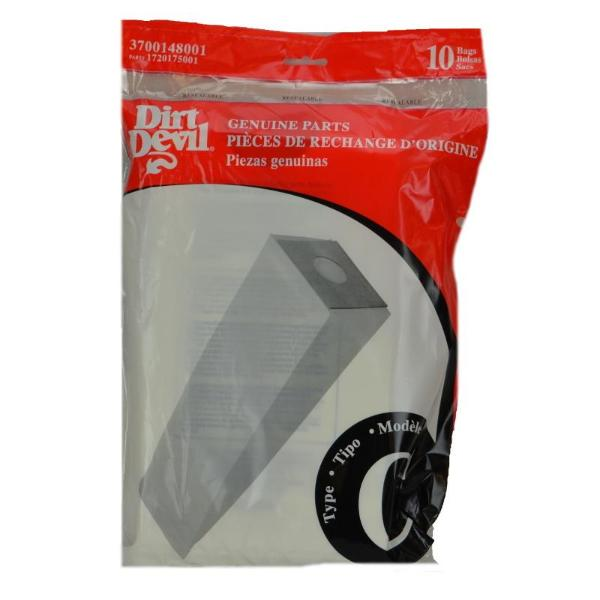 Dirt Devil C Vacuum Bags 10pk Part 3700148001