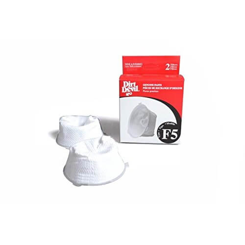 Dirt Devil F5 Vacuum Filter 2pk Part 3DEA950001, 2DEA95000