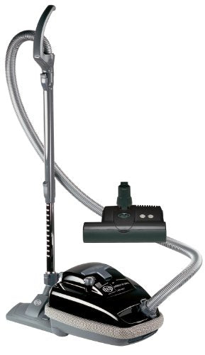 SEBO 9688AM Airbelt K3 Canister Vacuum with ET-1 Powerhead and Parquet Brush, Black - Corded