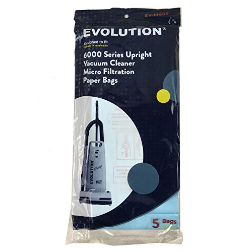 Evolution Bernina Type U Upright 6000 Series Vacuum Micro Paper Bags 5 PK Part E845, 01-2405-01