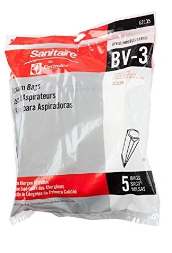 Sanitaire by Electrolux OEM BV-3 Vacuum Bags for Backpack EUR SC530A SC535A Model 62135