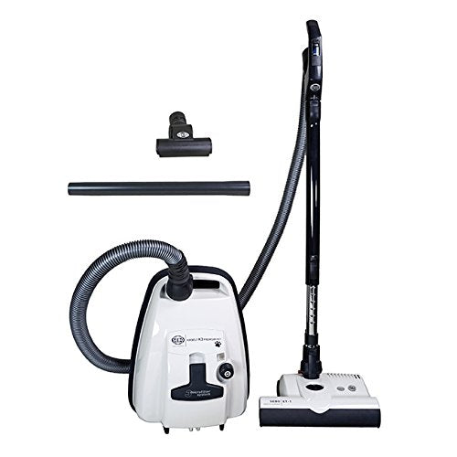 SEBO AIRBELT K3 90692AM Arctic White/Black Canister Vacuum Cleaner with Power Head +Mini Turbo Brush