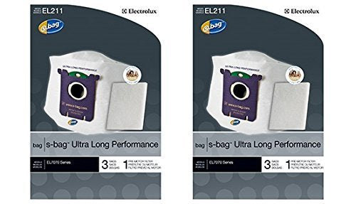 Genuine Electrolux Ultra Long Performance s-bag EL211 - (2 Pack = 6 bags, 2 premotor filters)