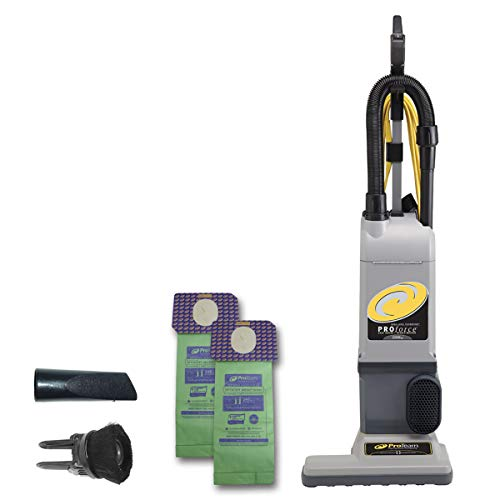 ProTeam ProForce 1500XP Bagged Upright Vacuum Cleaner with HEPA Media Filtration, Commercial Upright Vacuum with On-Board Tools, Corded SKU 107252