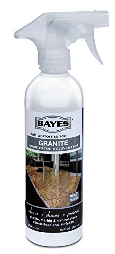 Bayes Premium Eco-Friendly Granite Countertop Cleaner and Rejuvenator Spray, 16-Ounce