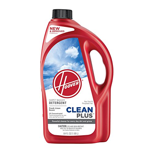 Hoover Clean Plus Concentrated Solution Formula Carpet Cleaner and Deodorizer, 64 oz, Part AH30330NF, AH30330