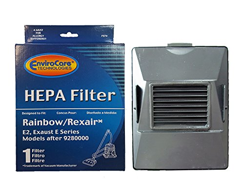EnviroCare (1) Replacement HEPA Filter for Rexair Rainbow 10520 E E2 Models after/9280000 E Series, E2A Series Vacuum Cleaners, R10520, E2 packed -R12179 or R12647