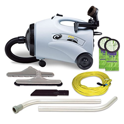 ProTeam Commercial Canister Vacuum Cleaner, ProVac with Floor Tool and Telescoping Wand, 10 Qt, Corded SKU 107154