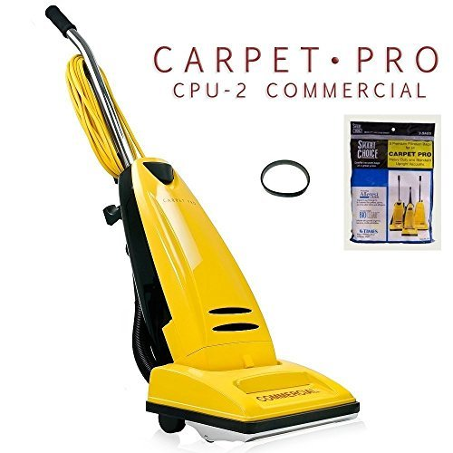 Carpet Pro CPU 2 Commercial Vacuum Cleaner + 3pk Upright Bags + CPU1/CPU2 Belt