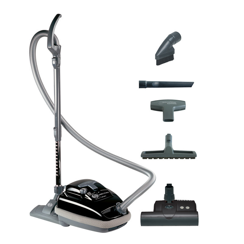 Sebo Airbelt K3 Canister Vacuum with ET-1 Powerhead and Parquet Brush, Black - Corded SKU 9688AM