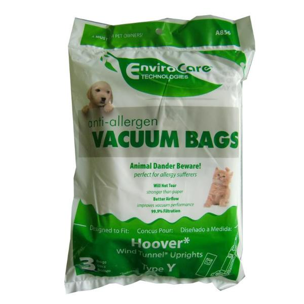 Hoover Type Y Vacuum Bags, 3pk, Part A856