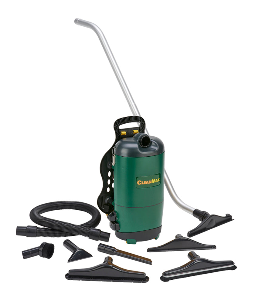 CleanMax Commercial 6Qt Backpack Vacuum Cleaner SKU CMBP-6.2