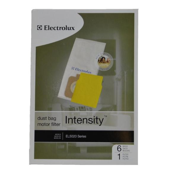 Electrolux Vacuum Bags 6pk +1 Pre-Motor Filter EL5020 Intensity Part EL206A, EL206A-4