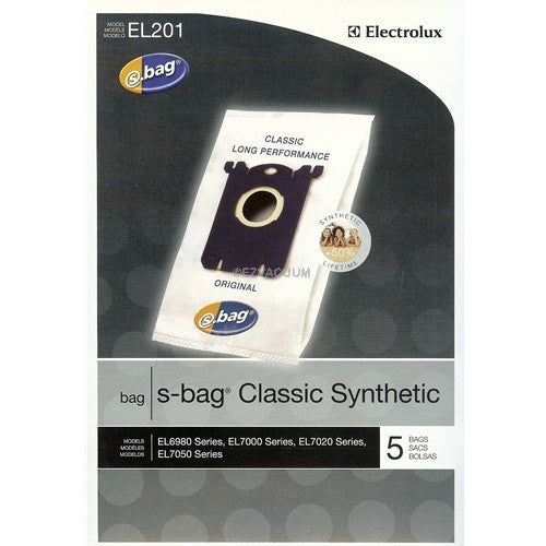Electrolux Synthetic S-bags Vacuum Bags 5pk Part EL201