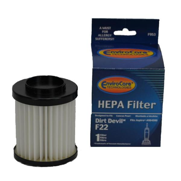 Dirt Devil Type F22 HEPA Vacuum Filter Replaces part 1LV1110000 Part F953