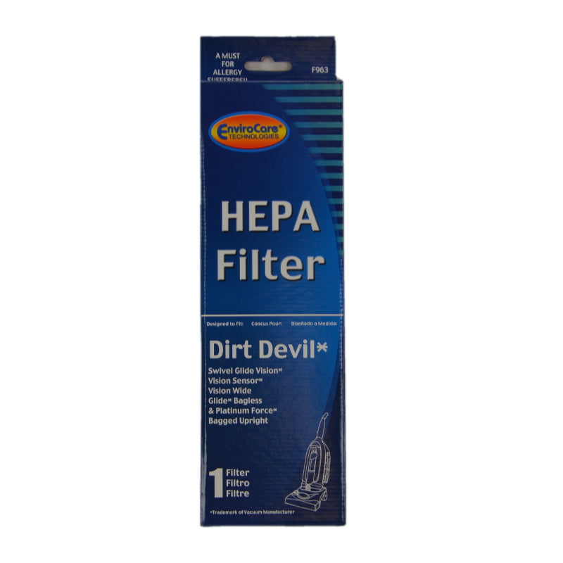 Dirt Devil F29 Hepa Filter For Swivel Glide, Vision, Platinum Force Vac Part 963