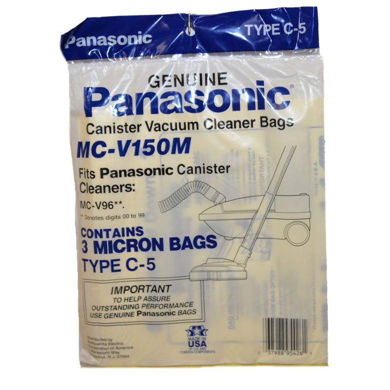 Panasonic Paper Bags, Type C5 Micro Can 9600 Series 3 Part MC-V150M