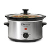 Elite Gourmet Cooker, MaxiMatic 2 Qt Stainless Steel Slow Cooker SKU MST275XS SS