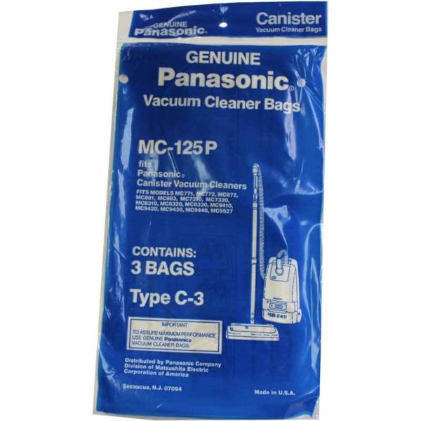 Panasonic Vacuum Bags 3pk Part MC125P