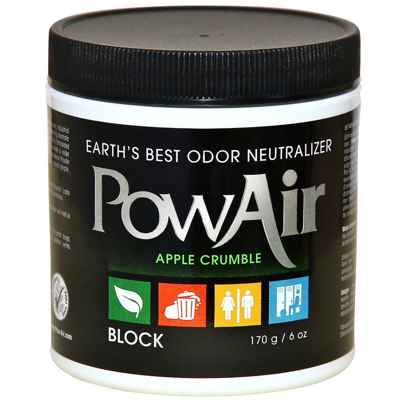 PowAir Odor Neutralizer Apple Crumble Block, 6 oz, Part PBK-170DW-AC