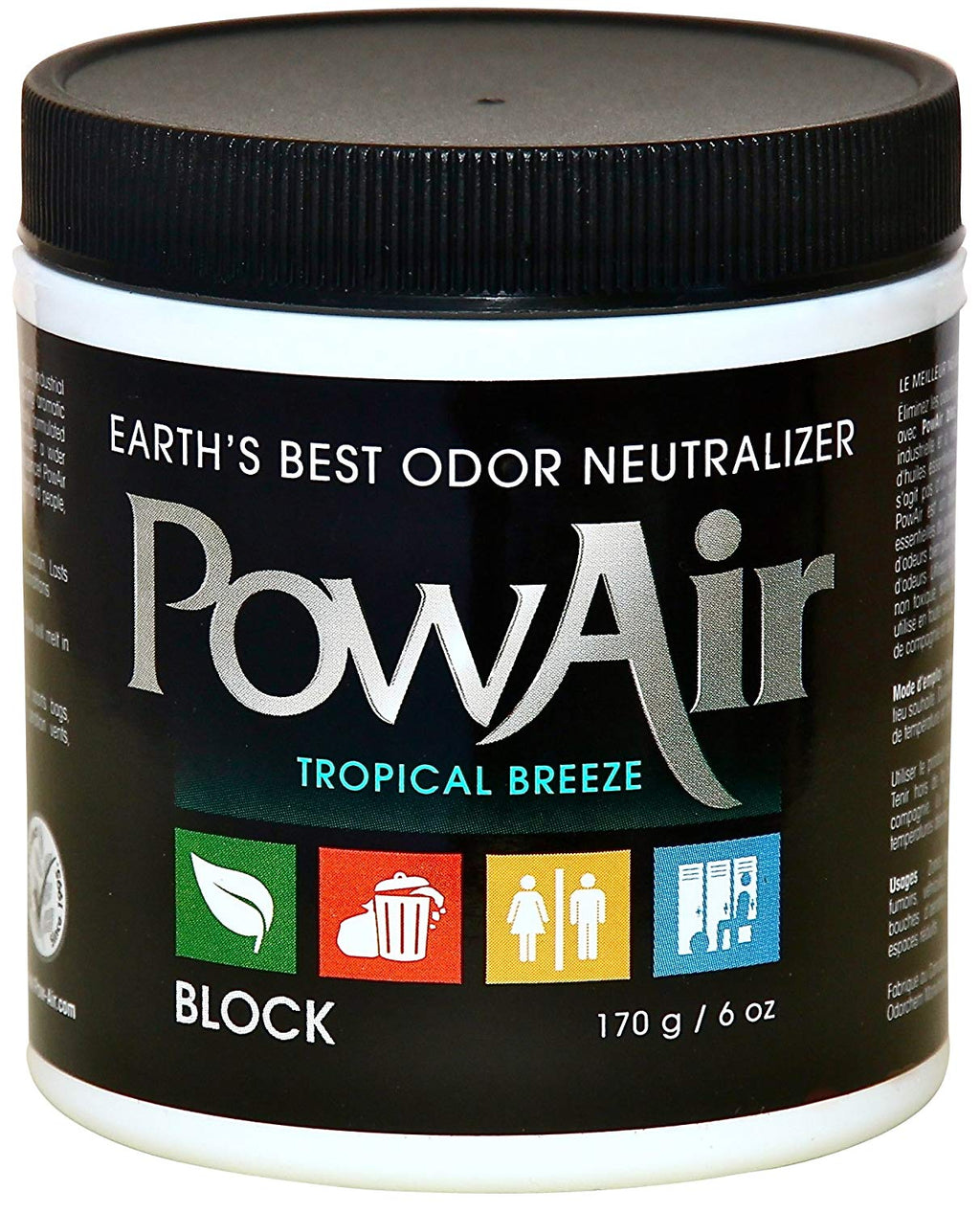 PowAir Odor Neutralizer Tropical Breeze 6oz Part PBK-170DW-TB (Available in 6oz. or 15oz)