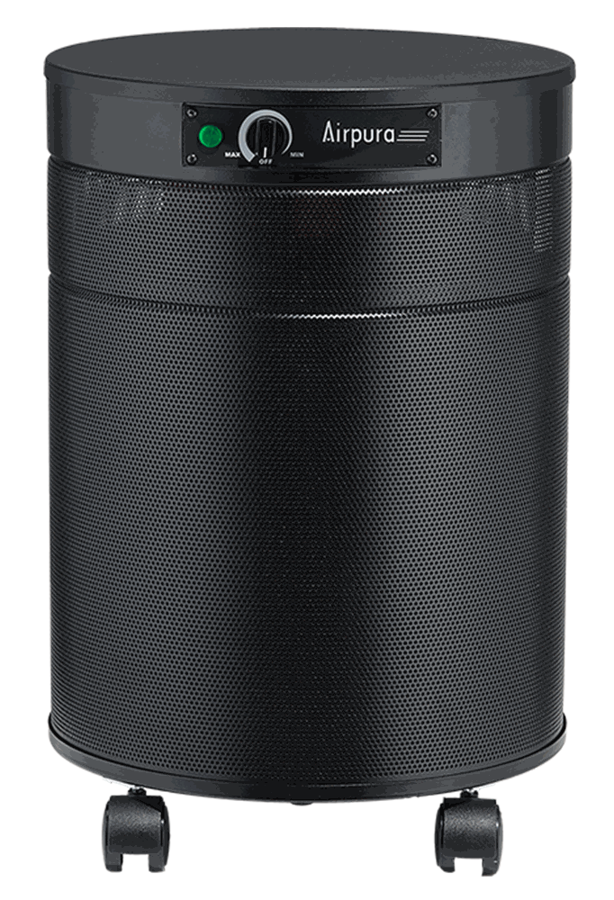 Airpura R600- The Everyday Air Purifier with 18-lb carbon filter, Black (Filter Upgrade Available)