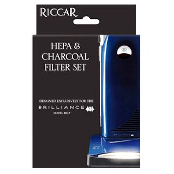 Riccar Brilliance Premium HEPA Media and Electrostatic Charcoal Filter Set Part RF5P