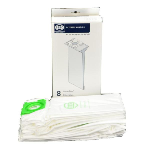 Sebo Vacuum Bags 8pk Part 6629AM