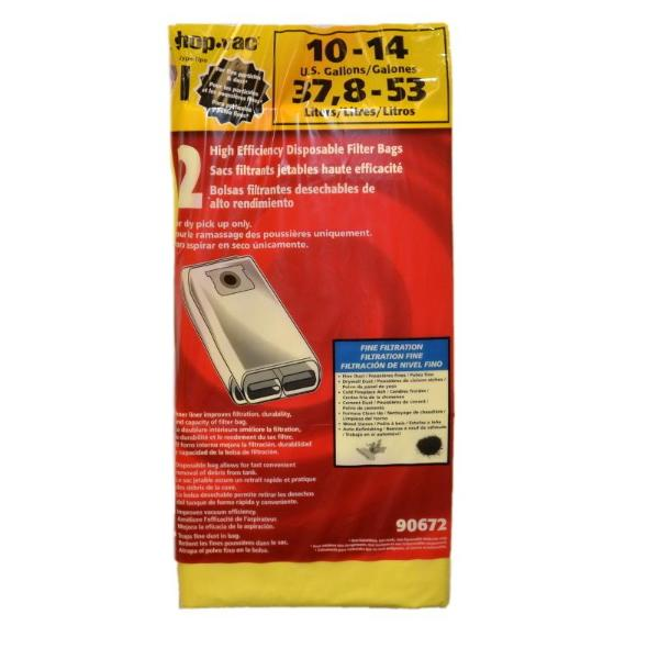 Shop-Vac Drywall Collection Bags Part 906-7200, 9067200, SV-90672