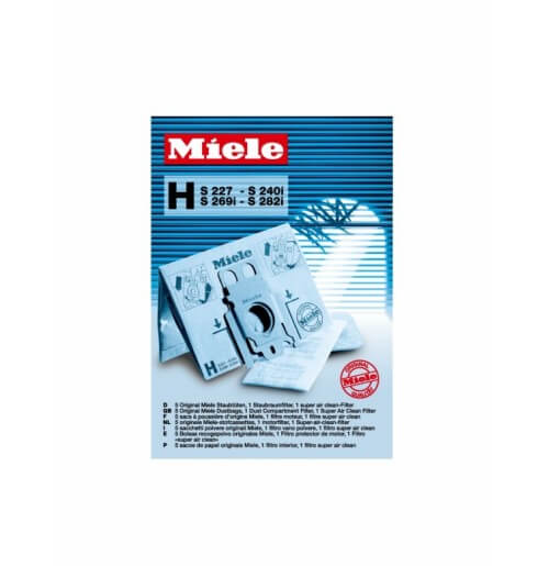 Miele Type H Replacement Dustbags (S200 Series) Part 02046318