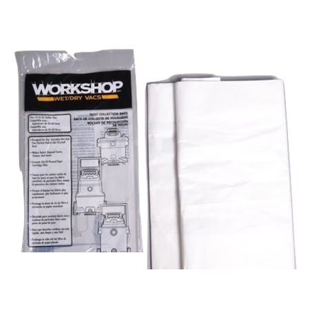 Proteam, Workshop Wet Dry Vacuum Bags Fine Dust Collection Shop Vacuum Bags, 12-Gallon To 16-Gallon, 2 bags, Part WS32200F