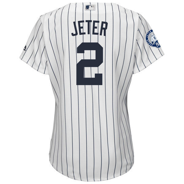 ... Throwback MLB New York Yankees Derek Jeter Stitched Baseball Jersey For  Women  7f80e6768d1