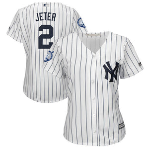 Throwback MLB New York Yankees Derek Jeter Stitched Baseball Jersey For  Women  ece1d9622db