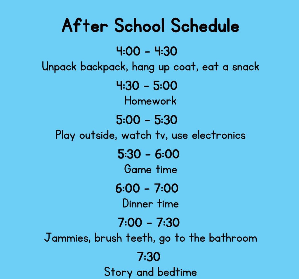 SCHOOL SCHEDULE THAT CAN HELP IMPROVE BEHAVIOR AT HOME