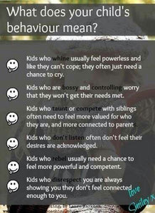 WHAT YOUR CHILD BEHAVIOR MEANS