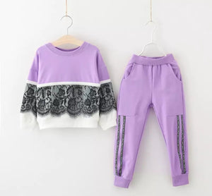 Toddler Girls Long Sleeve Tracksuit Clothes - bump, baby and beyond