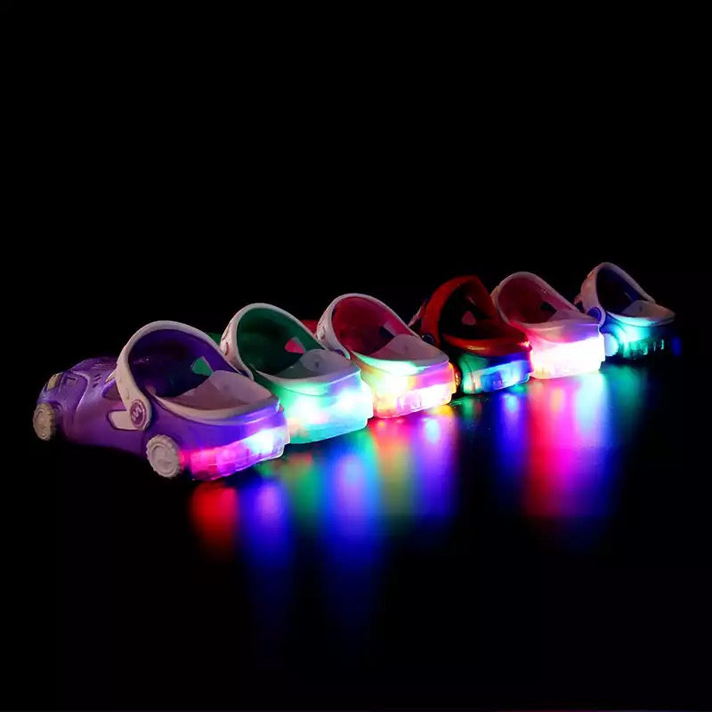 Lovely Led Boy Girl Cartoon Car Slippers Shoes. - bump, baby and beyond