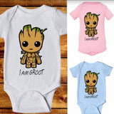 Newborn babies I am groot romper jumpsuit clothes - bump, baby and beyond