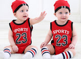 2pcs Of Romper Jersey Beanie Baby Boy Girl Clothes - bump, baby and beyond