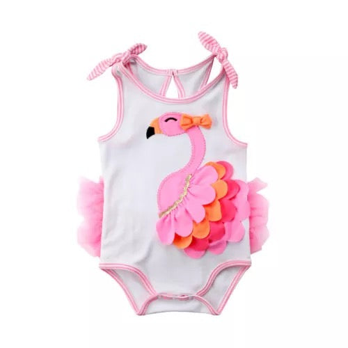 Cute Baby Girl Sleeveless Peacock Bodysuit Clothes - bump, baby and beyond