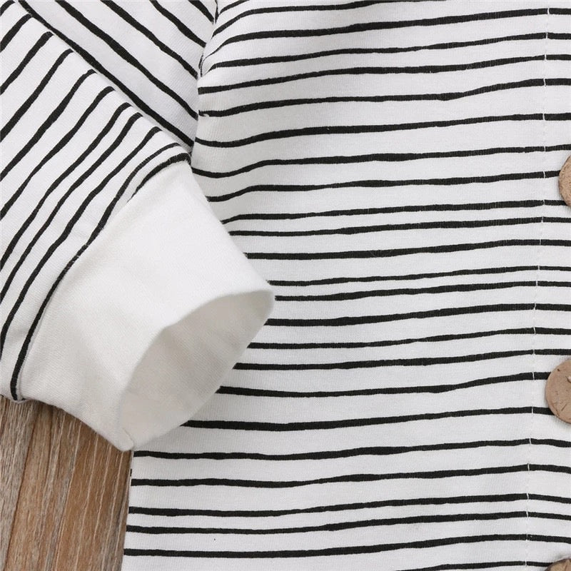 Casual Baby Boys Girls Striped Long Sleeve Romper Jumpsuit - bump, baby and beyond