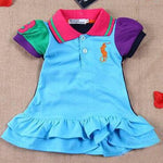 Baby Girl Colorful Party Dress Polo Skirt Clothes - bump, baby and beyond
