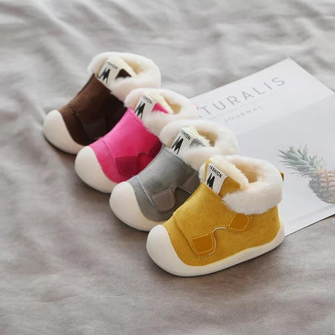 Children Thickened Warm Walking Shoes - bump, baby and beyond