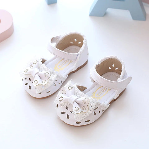 Cute princess baby sandals hallow leather shoes - bump, baby and beyond