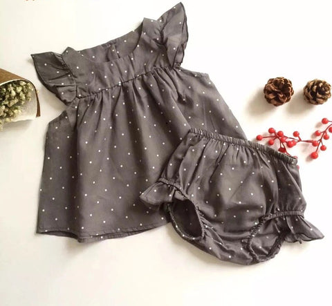 Summer style dot baby girl sleeveless clothes - bump, baby and beyond