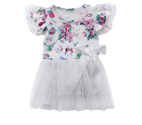 Baby Girls Flower Romper Clothes - bump, baby and beyond