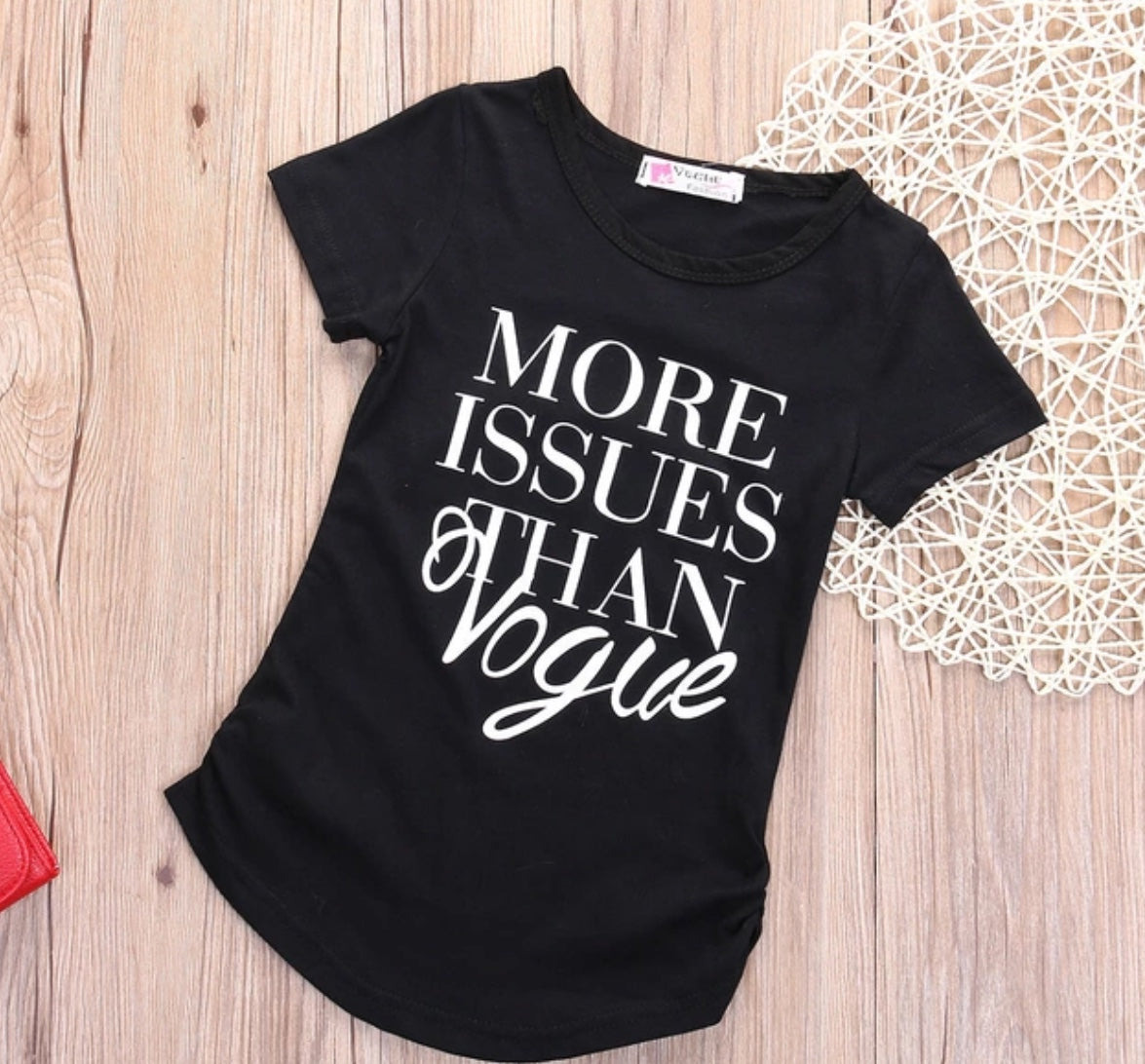 Short Sleeve Girls More Issue Than Vogue Cotton T Shirt Tops Clothes - bump, baby and beyond