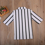 Casual Girls Striped Collar Button Clothes - bump, baby and beyond