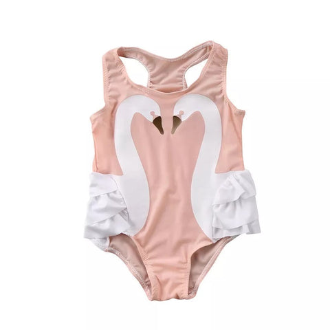 Adorable Toddler Girls Swan Swimsuit Clothes - bump, baby and beyond